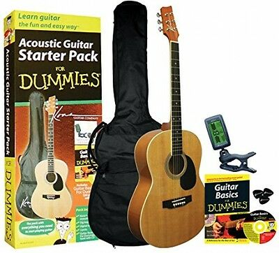 Acoustic Guitar Starter Pack Guitar Book Audio CD Gig Bag