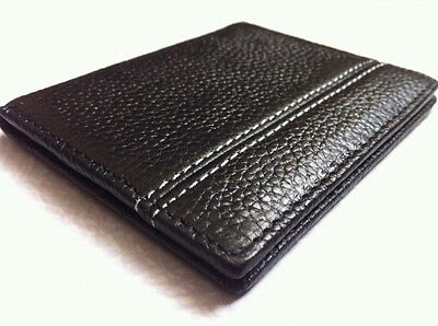 Mens Ultra Slim High Quality Leather Business Id/credit Card Holder