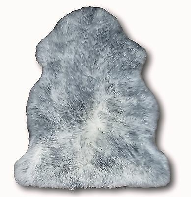 Extra Large Spiced Grey Sheepskin Rug 100x70cm Genuine Luxury Thick Natural Fur