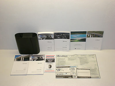 2014 Lexus IS 350/IS 250 Owners & Navigation Manual with Case
