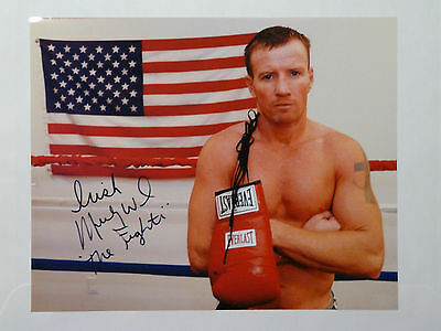 """Micky Ward Boxing """"The Fighter"""" signed 8x10 Photo COA"""