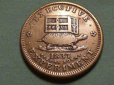 1837 Hard Times Pre Civil War Token With Turtle & Donkey - Item 2
