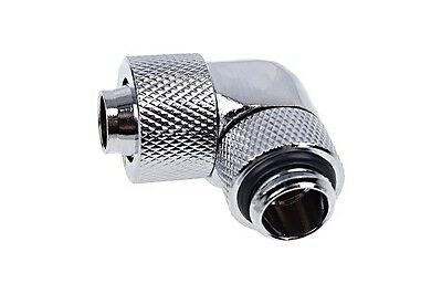 Alphacool 13/10 (10x1,5mm) Compression Fitting 90° Rotary G1/4 - Chrome