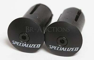 Specialized s-works Road Bike Bar End Plugs Black Cycling Locking