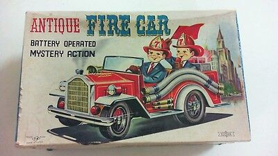 Tin Toy T.n Nomura Japan - Antique Fire Car - Mistery Action Boxed - Showa