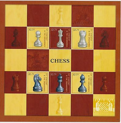 086.st. Vincent & The Grenadines 2013 Stamp S/s Chess.mnh