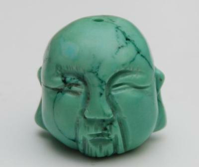 CARVED TURQUOISE Bead_19.6 x 20.7 x 20.9mm_12.5 Grams
