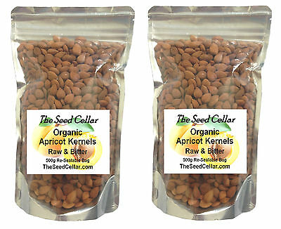Organic Apricot Kernels Seeds 1Kg Natural Raw & Bitter The Seed Cellar
