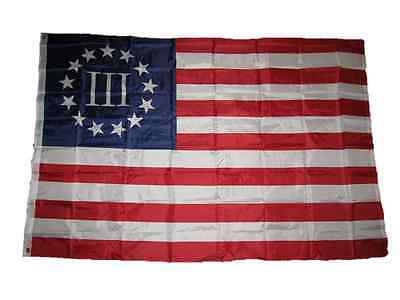 4x6 Betsy Ross Nyberg 3% III Percent Flag 4'x6' ft banner grommets