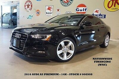 2016 Audi A5 2.0T Premium AUTO,SUNROOF,LEATHER,14K,WE FINANCE 16 A5 COUPE PREMIUM QUATTRO,2.0T,SUNROOF,LEATHER,B/T,18IN WHLS,14K,WE FINANCE!!
