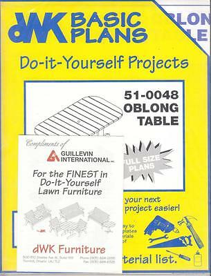 Oblong Table Dwk Woodworking Pattern - # 51-0048 - New