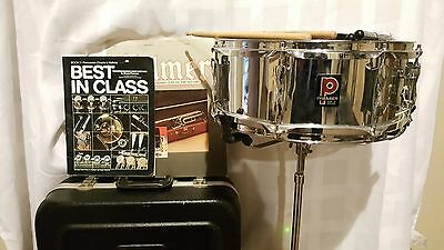 """Premier Olympic 14"""" Snare Drum w/ CASE MADE IN ENGLAND"""