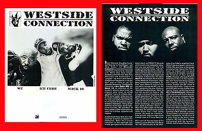 WESTSIDE CONNECTION w/ Ice Cube promo photo & bio Priority Records
