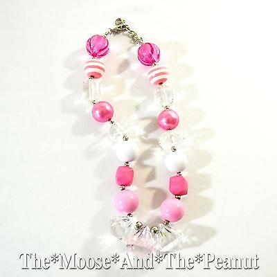 Custom Resell Chunky Pink Stripe Toddler Necklace