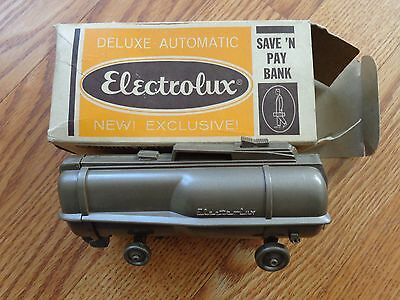 1960's ELECTROLUX VACUUM CLEANER Figural Promo Advertising Ad BANK ~Works