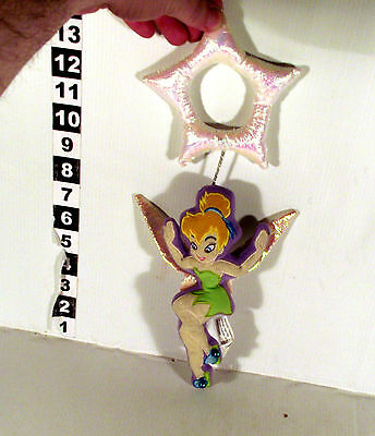 "Xmas Tree Hanger 8"" Tinkerbell Soft Toy Disney Peter Pan Fairy Tinker Bell"