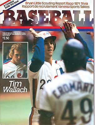 Vintage Baseball Magazine (French) June 1983 Tim Wallach Montreal Expos Cover