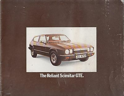 Reliant Scimitar Gte Se6A Original 1977 Factory Uk Sales Brochure