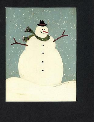 SNOWMAN LOVERS! SMILING SNOWMAN by WARREN KIMBLE ILLUSTRATED CHRISTMAS CARDS 4