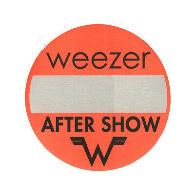 Weezer authentic Aftershow 2001-2002 tour Backstage Pass
