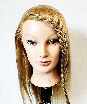 Mannequin Head For Training. Long Blonde Hair. Nice And Soft Hair  