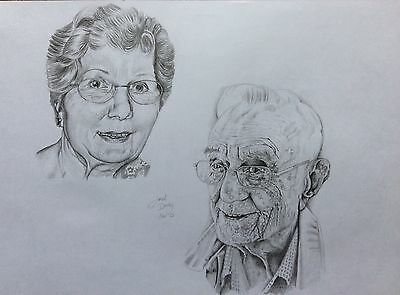 Portrait Of A Loved One From Your Own Photo! Original Personal & Unique Drawing