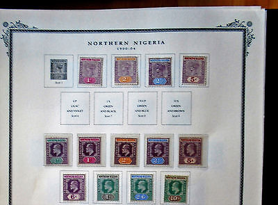 Qv/edvii 1900/04 Northern Nigeria To 10/- Lhm/fu Sg Cat £225+ - 2 Photos L@@k!!!