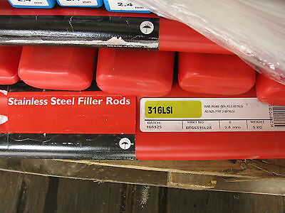 Stainless Steel 316Lsi 2.4mm x 5kg Tig Welder Filler Rod
