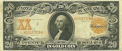 1906 $20 Large Size Gold Certificate - Fr-1186 - Beautiful & Scarce Type Note