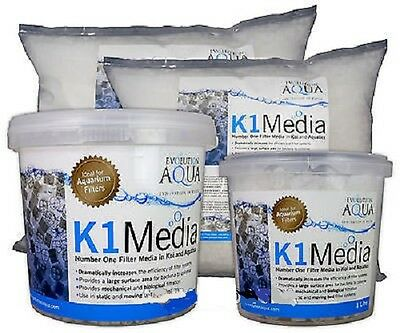 Evolution Aqua K1 Filter Media 1L 3L 25L 50L Pond Filter Moving Bed Biological