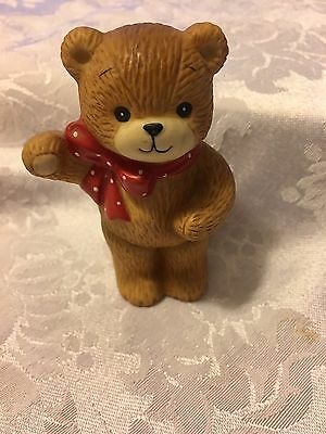 """Lucy & Me Bear Red Scarf 1982  Enesco 3"""""""
