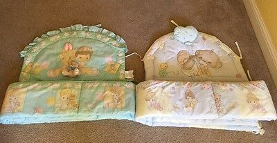 2 BABY/INFANT Precious Moments Crib Bumper Bedding 2pc sets Each Sold Separately