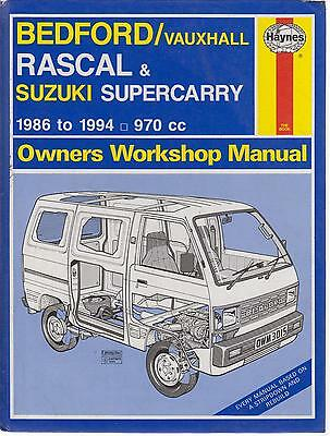 Bedford Rascal & Suzuki Supercarry ( 1986 - 1994 ) Owners Workshop Manual