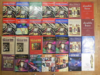 Lot 28 of real easy, standard of excellence, etc music instruction books