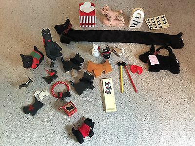 Gift LOT Scotty Scottish Terrier Dog Scottie  Bags Scarves Music Vintage