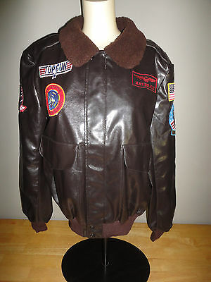 2009 TOP GUN MAVERICK Brown BOMBER JACKET from LEG AVENUE - Adult Size Small S