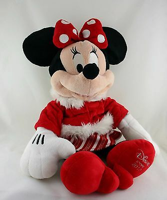 Official Disney Store Minnie Mouse - Red Winter 2010 Christmas Soft Plush - xmas