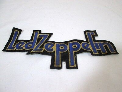 """Rare Vintage Led Zeppelin Original Embroidered 10"""" Iron On Patch - Early Days"""