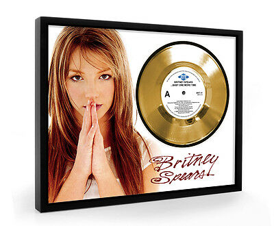 Britney Spears Baby One More Time Framed Gold Disc Display Vinyl (C1)