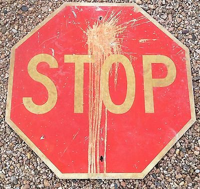 """30"""" x 30"""" Used STOP SIGN Retired Official Road Street Highway Traffic Sign"""