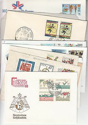 Cycling collection of 10 covers, postmarks.