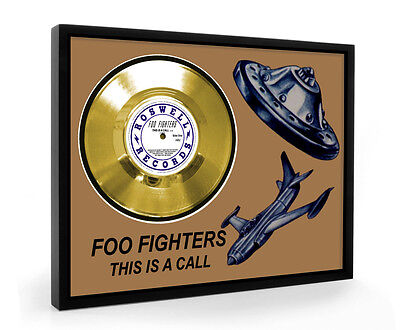 Foo Fighters This Is A Call Framed Gold Disc Display Vinyl (C1)