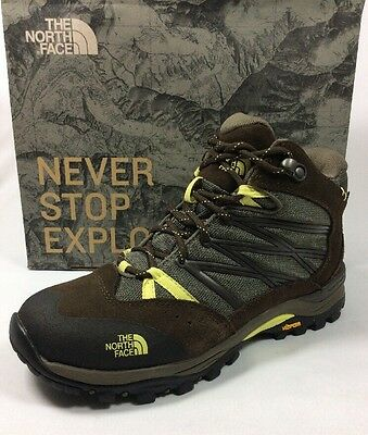 """THE NORTH FACE """"Storm II"""" mid women hiking shoes waterproof brown/yellow Sz. 6.5"""
