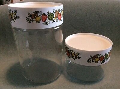 New In Original Box Pyrex Stack 'n' See 4 Piece Canister Set-Spice O'life Design