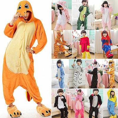 Kids Baby Pajamas Romper Kigurumi Nightwear Cosplay Costume Animal Onesie Shoes