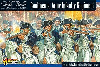 Warlord Games Continental Army Infantry Regiment 28mm Scale WGR-AWI-04