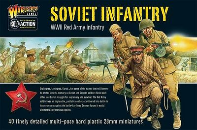 Warlord Games Bolt Action Soviet Infantry 28mm Scale Miniatures WGB-RI-02