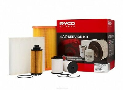 RYCO Oil Air Fuel Cabin Filter Service Kit COLORADO RG 2014 onwards