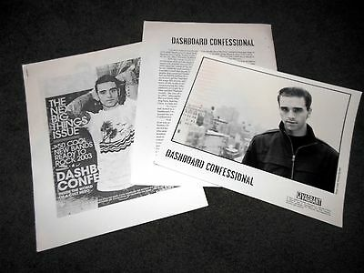 DASHBOARD CONFESSIONAL A Mark A Mission A Brand A Scar Press Kit With 8x10 Photo