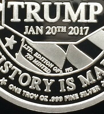 Proof .999 Silver 2017 Trump Presidential Inauguration Coin - One Troy Ounce -